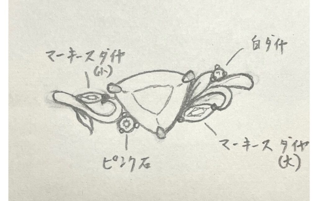パライバを使った婚約指輪デザインを考える
