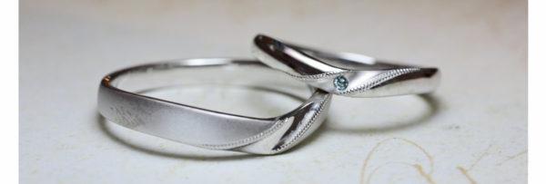 Vラインの結婚指輪 2