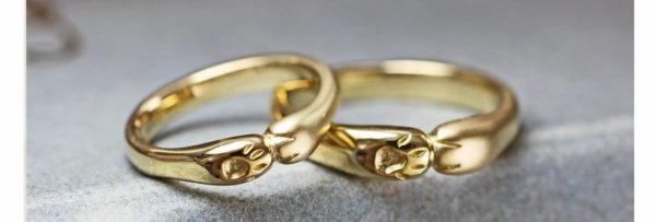 オーダーメイドの結婚指輪 ネコ