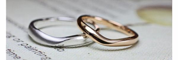 Vラインの結婚指輪 1