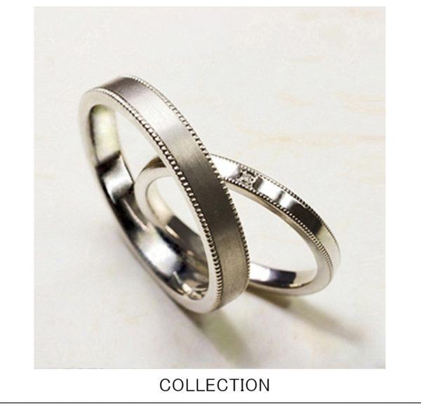 クラッシィリボン・結婚指輪プラチナシンプル