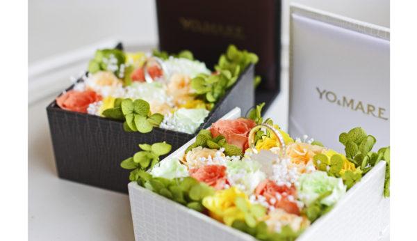 男性お\一人での婚約指輪ご購入のお客様全てにプリザーブドフラワーでいっぱいの ブーケボックスをプレゼントさせていただきます