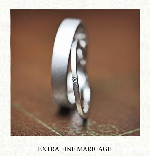 幅1.5mmの極細にオーダーメイドされた結婚指輪 千葉・ 柏 ヨー&マーレ