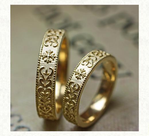 ゴールドナイト<騎士>のペアリング結婚指輪 3