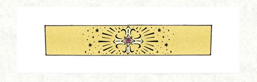 サクラの模様と花火の柄をいれた ゴールドの結婚指輪のラフデザイン 千葉・柏 ヨー&マーレ