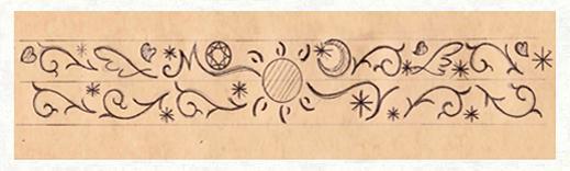 結婚指輪にいれた太陽の模様