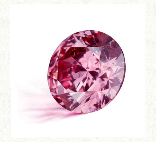 結婚指輪に留める天然のピンクダイヤモンド
