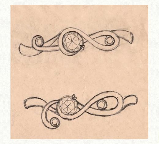 ト音記号のリングデザイン画像 2