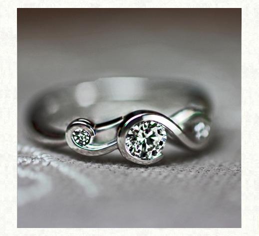 ト音記号の婚約指輪