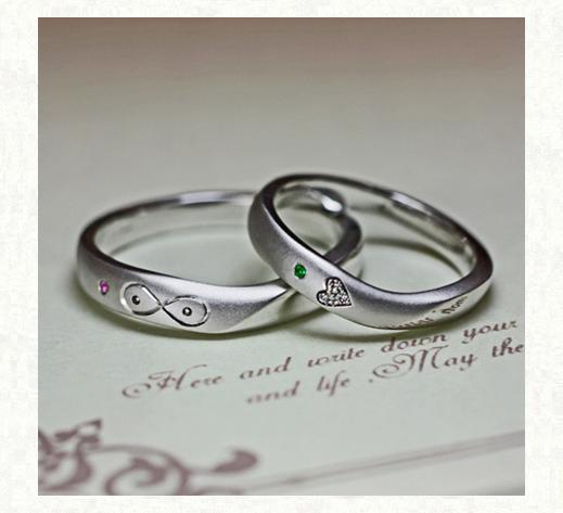 ハート&メビウスの模様を入れた結婚指輪 1|千葉・柏 ヨー&マーレ