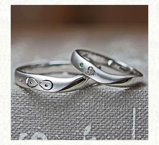 ハート&メビウスの模様を入れた結婚指輪2|千葉・柏 ヨー&マーレ