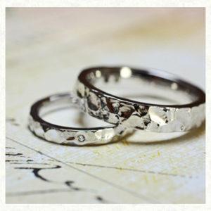 アイス・氷をデザインした結婚指輪|千葉・柏 ヨー&マーレ