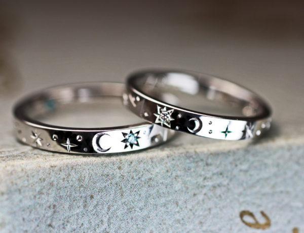 星の模様を結婚指輪を重ねてつくる 2・千葉 柏ヨーアンドマーレ