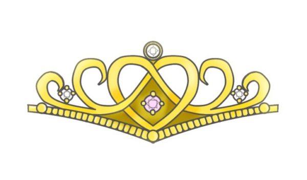ゴールドティアラの結婚指輪  レディスデザイン 1