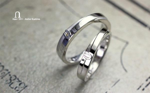 馬蹄モチーフのオーダーメイドの結婚指輪 A様・千葉 柏