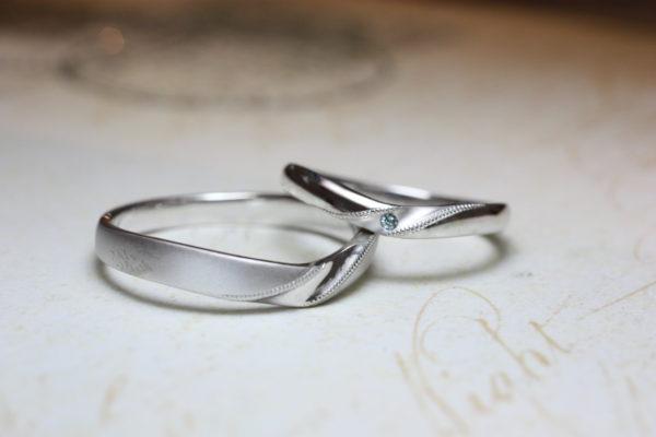 M様が千葉 柏本店でつくったVラインの結婚指輪