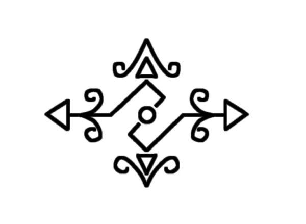 結婚指輪に入れる柄デザインのラフ画 1