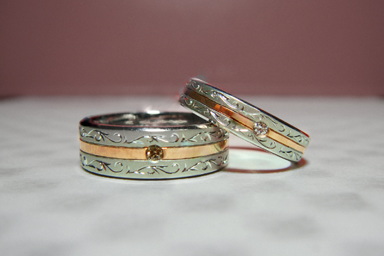 B様 千葉・柏 12年前にオーダーメイドでつくった結婚指輪