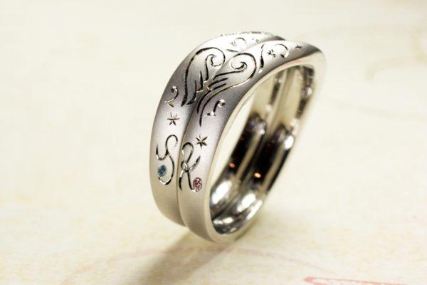 S様 千葉・柏本店でつくった天使の羽の結婚指輪