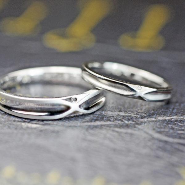8の字のデザインの結婚指輪をオーダーメイド 1