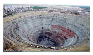 ロシア最大の鉱山・ミール鉱山