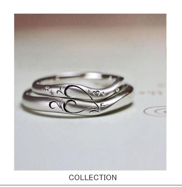 ハートストロベリー・結婚指輪を2本重ねてハートをつくる