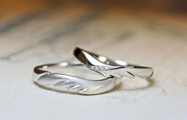 天使の羽の結婚指輪をオーダーメイド
