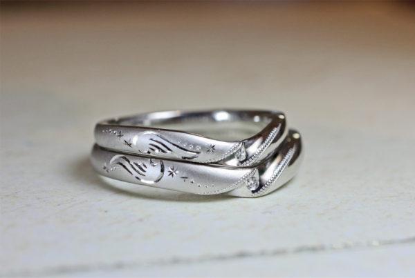 二人で一つの天使の羽を作った結婚指輪で挙式を  F様 千葉・柏