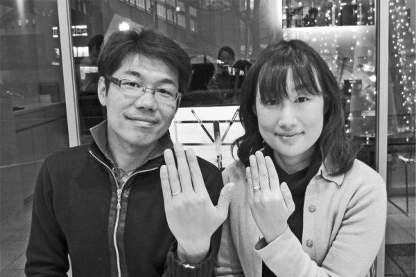 8年ぶりのK18結婚指輪はほぼ新品の状態でした。K様千葉・柏