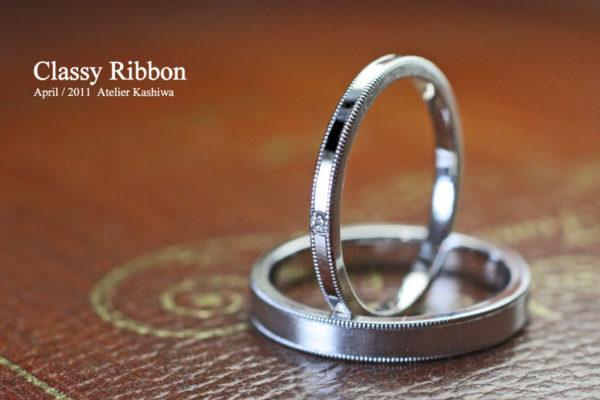 遠距離恋愛の二人は結婚指輪をプラチナでオーダーメイド