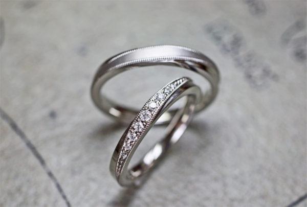 7年前の結婚指輪にダイヤモンドを追加して豪華なデザインに