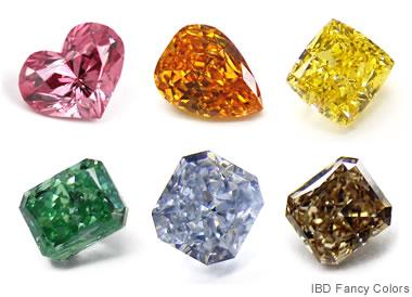 カラーダイヤモンドの数々