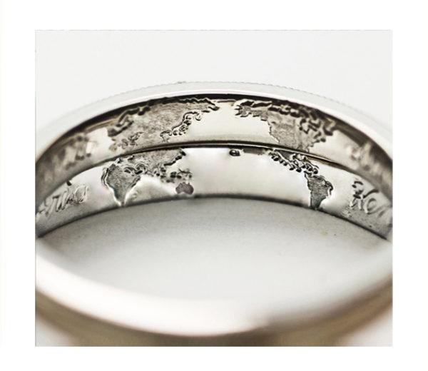 結婚指輪の内側に二人の世界をオーダーデザインする。無料のサービスオプションにて!