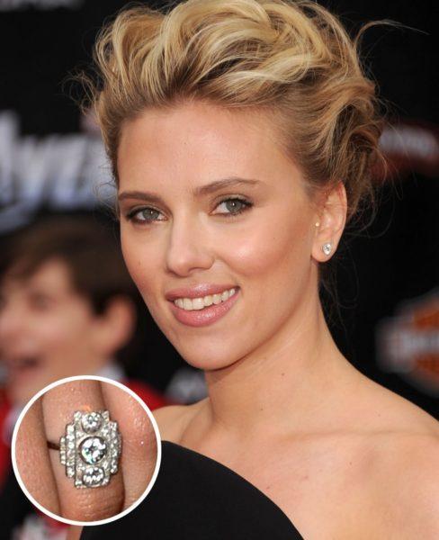 スカーレットヨハンソンのオーダーメイド婚約指輪