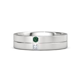 アレキサンドライトを使った結婚指輪・レディスリング
