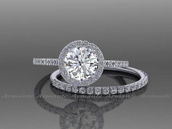 ホワイトサファイアの婚約指輪