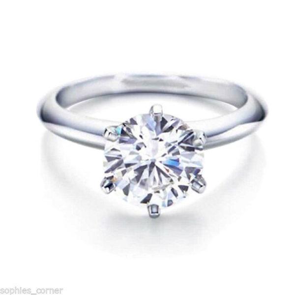 6本爪の婚約指輪