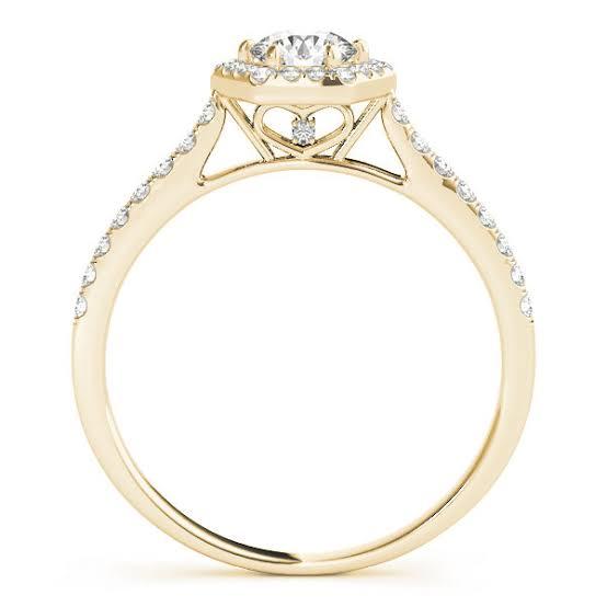 ギャラリースタイルの婚約指輪ゴールド