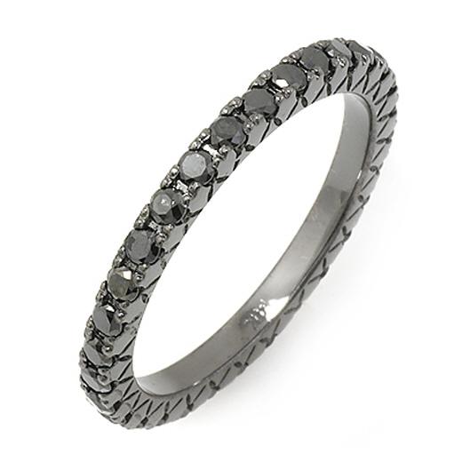 ブラックダイヤモンドリン  グの総カラットは1.25 ctsで、価格は9万円です。