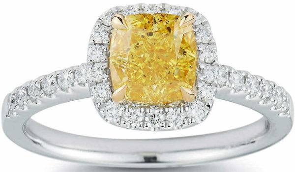 .イエローダイヤモンドのプラチナリング