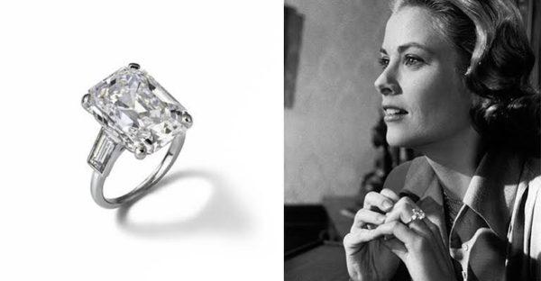 モナコ公国グレースケリーの婚約指輪