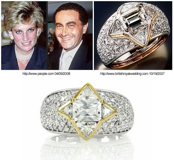 ドディ アルファイド氏からダイアナ妃に贈る予定だった婚約指輪