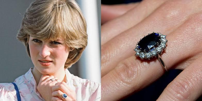 ダイアナ妃のサファイア婚約指輪