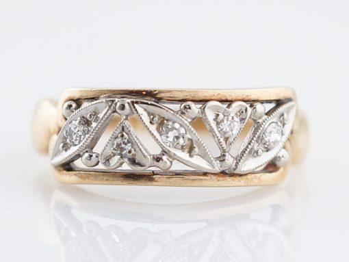 透かしを入れたダイヤモンドのファッションリング