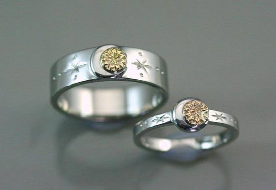 月と太陽 -  オーダー結婚指輪 海外製品