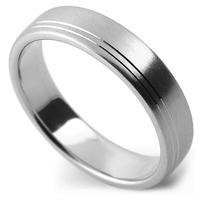 ラインパターンのオーダーメイド結婚指輪