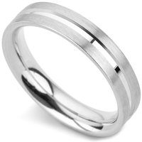 チャンネルパターンのオーダー結婚指輪
