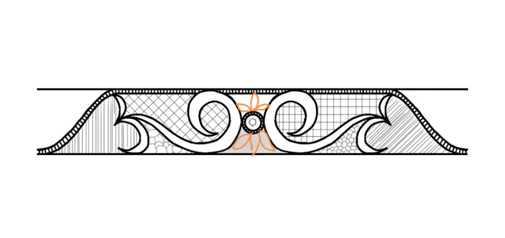 結婚指輪メンズリングのデザイン画