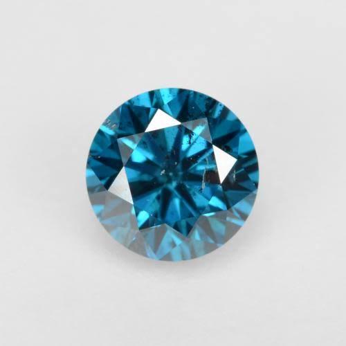 結婚指輪にワンポイントで入れるブルーダイヤモンド
