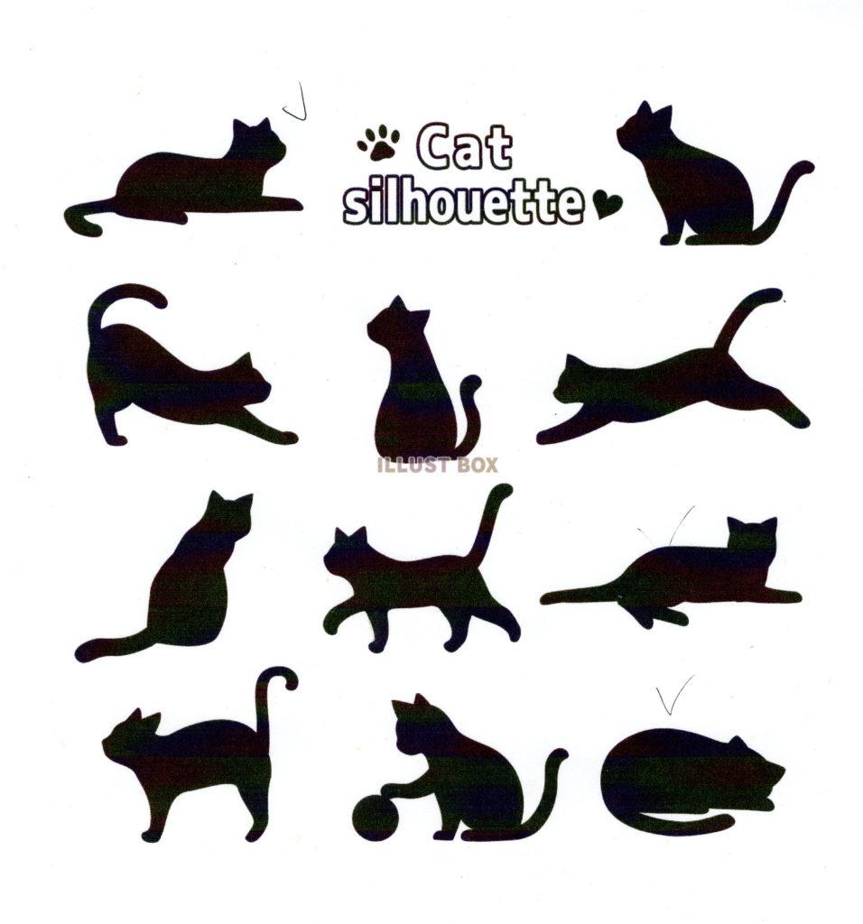 ネコのシルエットデザイン